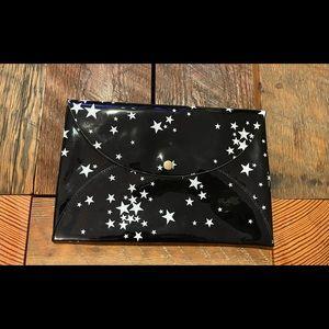 Black Kate Spade envelope clutch